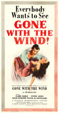 "Movie Posters:Academy Award Winners, Gone with the Wind (MGM, R-1947). Three Sheet (41"" X 78"").. ..."