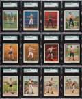 """Boxing Cards:General, 1910 T220 Mecca/Tolstoi """"Champions Boxing"""" Complete Set (50) With Six Rare """"Tolstoi"""" Backs! ..."""