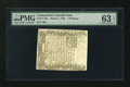 Colonial Notes:Connecticut, Connecticut March 1, 1780 5s PMG Cut Cancelled Choice Uncirculated 63 EPQ....