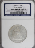 Seated Half Dollars, 1857-O 50C Shipwreck Effect NGC....
