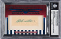 Autographs:Sports Cards, 2010 Leaf Sports Icons Update Eddie Cicotte Signed Cut Card #1 of 1Encapsulated by BGS. ...