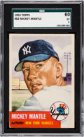 Baseball Cards:Singles (1950-1959), 1953 Topps Mickey Mantle #82 SGC 60 EX 5....