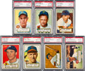 Baseball Cards:Lots, 1952 Topps Baseball PSA NM-MT 8 Collection (7). ...