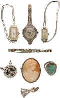 Movie/TV Memorabilia:Memorabilia, A Bette Davis Group of Jewelry, Circa 1930s-1980s....