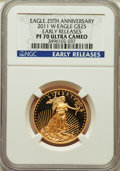 Modern Bullion Coins, 2011-W G$25 Half-Ounce Gold Eagle, 25th Anniversary, Early Releases, PR70 Ultra Cameo NGC. NGC Census: (754). PCGS Populati...