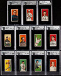 Baseball Cards:Lots, 1909-11 T206 Piedmont/Sweet Caporal GAI Graded Collection (11).....