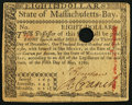 Colonial Notes:Massachusetts, Massachusetts May 5, 1780 $8 Extremely Fine or better.. ...