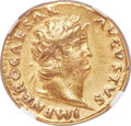 Ancients:Roman Imperial, Ancients: Nero (AD 54-68). AV aureus (19mm, 7.42 gm, 6h). NGC Choice VF 5/5 - 2/5, ex jewelry. ...