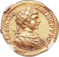 Ancients:Roman Imperial, Ancients: Caracalla (AD 198-217). AV aureus (19mm, 7.26 gm, 12h). NGC XF 5/5 - 4/5....