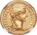 Ancients:Roman Imperial, Ancients: Tiberius (AD 14-37). AV aureus (19mm, 7.72 gm, 4h). NGC Choice XF 5/5 - 3/5, brushed....