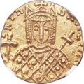 Ancients:Byzantine, Ancients: Irene, as sole Augusta (AD 797-802). AV solidus (18mm,3.80 gm, 6h). NGC MS 5/5 - 4/5....