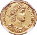 Ancients:Roman Imperial, Ancients: Constantius II (AD 337-361). AV solidus (21mm, 4.54 gm,12h). NGC Choice AU 5/5 - 4/5....