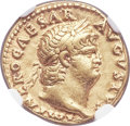 Ancients:Roman Imperial, Ancients: Nero (AD 54-68). AV aureus (18mm, 7.35 gm, 5h). NGC XF5/5 - 4/5. ...