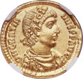 Ancients:Roman Imperial, Ancients: Gratian (AD 367-383). AV solidus (21mm, 4.49 gm, 12h).NGC MS ★ 5/5 - 5/5....