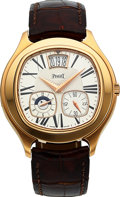 Timepieces:Wristwatch, Piaget Black Tie Emperador Dual Time- Zone Automatique LimitedEdition Full Set. ...