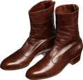 Movie/TV Memorabilia:Costumes, A Frank Sinatra Pair of Custom-Made Boots, 1989.... (Total: 2 Items)