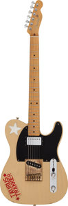 Music Memorabilia:Instruments , The Clash - Mick Jones Signed and Played Fender Telecaster Electric Guitar....