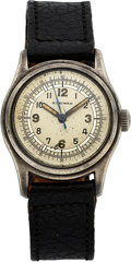 Timepieces:Wristwatch, Harman, Silver Case, Circa 1940. ...