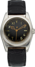 Timepieces:Wristwatch, Rolex Ref. 2940, Stainless Steel Bubble Back, Circa 1930's. ...
