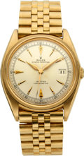 "Timepieces:Wristwatch, Rolex, Ref: 4467, ""Ovettone"" Pre-DateJust, Luminous Dial and Hands,Circa 1947. ..."