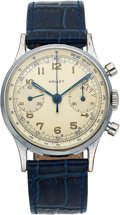 Timepieces:Wristwatch, Gallet, Two Register Chronograph, Circa 1940's. ...
