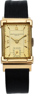 Timepieces:Wristwatch, Vacheron & Constantin, 14k Gold Manual Wind Wristwatch, Circa1930's. ...