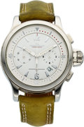 Timepieces:Wristwatch, Jaeger LeCoultre, Ref:148.8.31, Lady's Master Compressor Chronograph, Circa 2008. ...