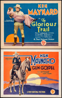 "Gun Gospel & Other Lot (First National, 1927). Title Lobby Cards (2) (11"" X 14""). Western. ... (Total:..."