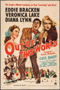 """Movie Posters:Musical, Out of This World (Paramount, 1945). One Sheet (27"""" X 41""""). Musical.. ..."""