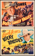 "Movie Posters:Western, Rocky Rhodes & Other Lot (Universal, 1934). Title Lobby Cards (2) (11"" X 14""). Western.. ... (Total: 2 Items)"