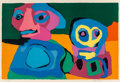 Prints & Multiples, Karel Appel (1921-2006). Looking into the Infinite, 1970. Lithograph in colors on Arches paper. 28-3/8 x 41-1/4 inches (...