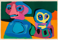 Karel Appel (1921-2006) Looking into the Infinite, 1970 Lithograph in colors on Arches paper 28-3