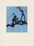 Fine Art - Work on Paper:Print, Robert Motherwell (1915-1991). Gesture III, 1976-77.Lift-ground etching with aquatint in colors on JB Green paper.19-5...