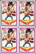 "Movie Posters:Action, Bruce Lee: The Man, The Myth (Film Ventures International, 1978).Posters (5) Identical (13.5"" X 20.5"") Neal Adams Artwork, ...(Total: 5 Items)"