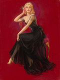 Pin-up and Glamour Art, Jules Erbit (American, 1889-1968). Pamela, 1950. Pastel onboard. 40 x 30 in.. Signed center right. ...