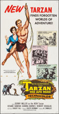 "Movie Posters:Adventure, Tarzan the Ape Man (MGM, 1959). Folded, Fine/Very Fine. Three Sheet (41"" X 79""). Adventure.. ..."