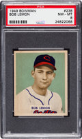 Baseball Cards:Singles (1940-1949), 1949 Bowman Bob Lemon #238 PSA NM-MT 8....