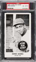 Baseball Cards:Singles (1950-1959), 1959 Home Run Derby Ernie Banks PSA EX-MT 6 - Pop Two, Two Higher!...