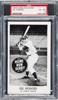 Baseball Cards:Singles (1950-1959), 1959 Home Run Derby Gil Hodges PSA EX-MT 6 - None Higher. ...