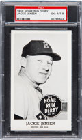 Baseball Cards:Singles (1950-1959), 1959 Home Run Derby Jackie Jensen PSA EX-MT 6 - None Higher. ...