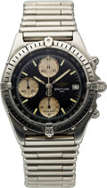 Timepieces:Wristwatch, Breitling, Ref. 81.950, Steel Chronomat Chronograph, With Bullet Bracelet, Circa 1990's. ...