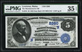 National Bank Notes:Maine, Lewiston, ME - $5 1882 Date Back Fr. 534 The Manufacturers NB Ch. # (N)2260. ...