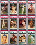 Baseball Cards:Lots, 1957 Topps Baseball Stars & HOFers PSA-Graded Collection (19)....