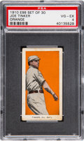 "Baseball Cards:Singles (Pre-1930), 1910 E98 ""Set of 30"" Joe Tinker (Orange) PSA VG-EX 4. ..."