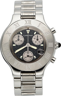Cartier Chronscaph 21 Steel Chronograph