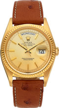 Timepieces:Wristwatch, Rolex, Ref: 1803, 18k YG Day-Date, Circa 1967. ...