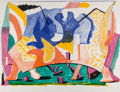Prints & Multiples, David Hockney (b. 1937). Twelve Fifteen, 1991. Lithograph in colors on Rives BFK mould-made paper. 44-1/8 x 57 inches (1...