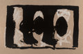 Prints & Multiples, Robert Motherwell (1915-1991). Elegy Study I, 1989. Lithograph in colors on light brown TGL handmade paper. 39-1/8 x 61-...