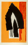 Prints & Multiples, Robert Motherwell (1915-1991). Black Cathedral, 1991. Lithograph in colors on TGL handmade paper. 54-3/8 x 34-1/4 inches...