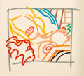 Fine Art - Work on Paper:Print, Tom Wesselmann (1931-2004). Bedroom Blonde Doodle withPhoto, 1988. Screenprint in colors on wove paper, with fullmargi...